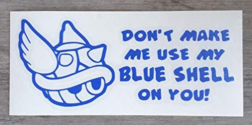 Mario Kart Sticker Wandraam Auto Deur Thuis Maak Mij Gebruik Mijn Blauwe Shell Vinyl Decal