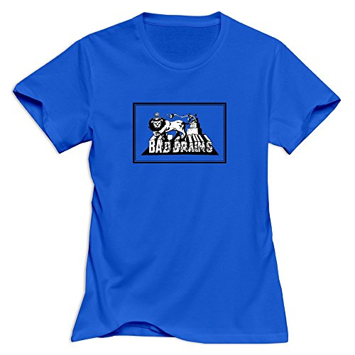 TEC&KIM Bad Brains Band Cute O-Neck T Shirts for Women