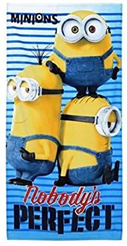 Despicable Me Toalla de Baño Playa Piscina Minions Bob Kevin y Stuart - Nobody´s 140 x 70 cm - 100% Algodón - EP4360
