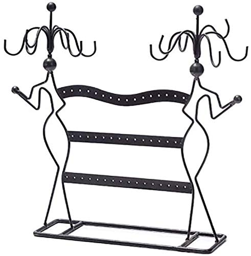 KEEBON Jewellery Stand, Jewellery Organiser, Jewellery Holder, for Necklaces, Earrings Rings Accessories Rack Black