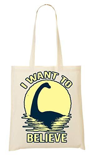 BakoIsland Loch Ness Monster Believe Tragetasche Einkaufstasche