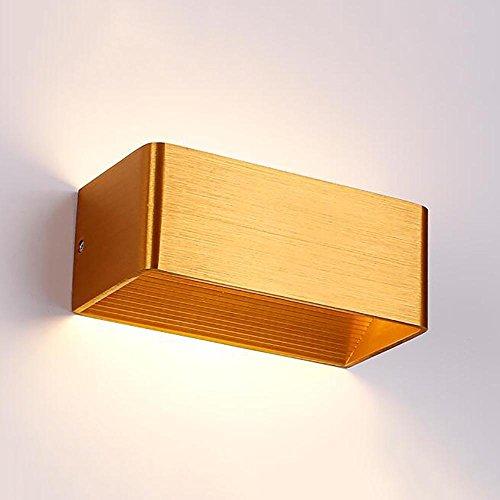 TOYM UK Lampe de mur rectangulaire en aluminium de LED, lampe créative nordique de chambre à coucher pour le salon/couloir / couloir (Couleur : Golden Queen(White))