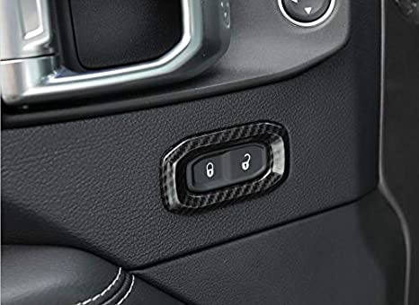 Red FMtoppeak 3Colors Interior Accessories Car Door Lock Decoration Cover ABS for Jeep Wrangler JL 2018 UP