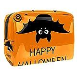 Bolsa de Maquillaje para niños Murciélago de Halloween Accesorio de Viaje Neceser Pequeño Bolsas de Aseo Impermeable Cosmético Organizadores de Viaje 18.5x7.5x13cm