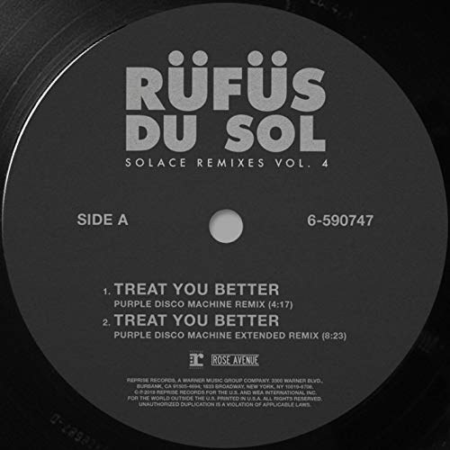 Treat You Better (Purple Disco Machine Remix)