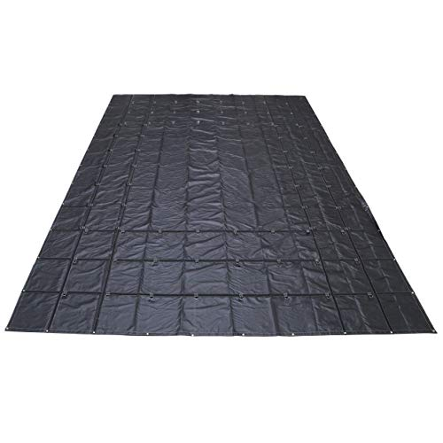 US Cargo Control Lightweight Steel Tarp - 24 Foot x 18 Foot Flatbed Tarp - 14 Ounce PVC-Coated Polyester Waterproof Material - Protects Your Flatbed Trailer Cargo from Wind, Snow, Rain, and Sun