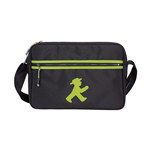 AMPELMANN Trainer   Sporttasche schwarz   100% Polyester in Canvas Stil 37 x 26 x 10 cm