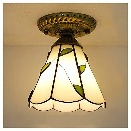 WFSH Lámparas de Techo Retro Vintage Luz del Techo mediterráneo Retro AC110V-220V LED Iluminación de la lámpara de balcón para Sala de Estar, vestíbulo del Hotel (Color : 13)