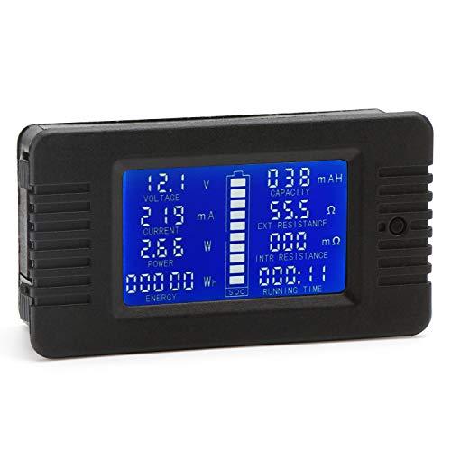DC Multimeter Panel, Droking 0-200V 10A Batterie Monitor Meter, LCD Display Spannung Strom Leistung Energieverbrauch Kapazität Widerstandszeit SOC Tester Batterie Voltmeter Amperemeter