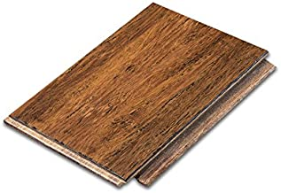 Cali Bamboo - Solid Wide Click Bamboo Flooring, Medium Antique Java Brown, Aged - Sample Size 8