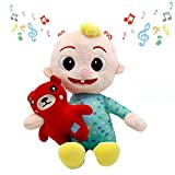 Cocomelon Toys Doll Plush Musical Bedtime Can Sing Handmade Cocomelon JJ Doll Sing Boy Cocomelon Musical Bedtime JJ Melon Doll Plush Toy JJ Family Kids Gift Plushie (JJ with Music)