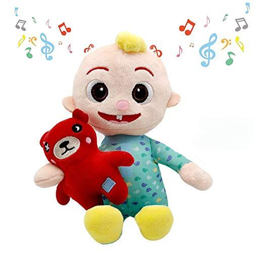 2PCS Plush Cocomelon JJ Plush Toys Doll Can Sing Handmade Cocomelon JJ Doll Sing Boy Cocomelon Musical Bedtime with Bear JJ Doll Plush Toy JJ Gift Plushie (JJ Plush Toy with Music)