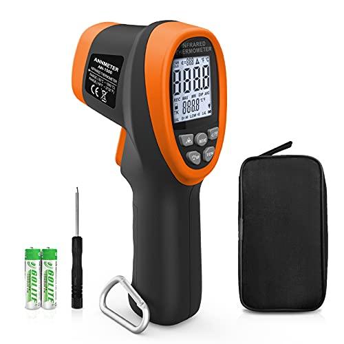 非接触 赤外線温度計 ン 工業用、レーザー 高温計、ANNMETER AN-1500 高温IRゲージ、高温測定50℃-1500℃、HVAC、窯用デジタル放射温度計(日本語取扱説明書付き)人間用ではありません