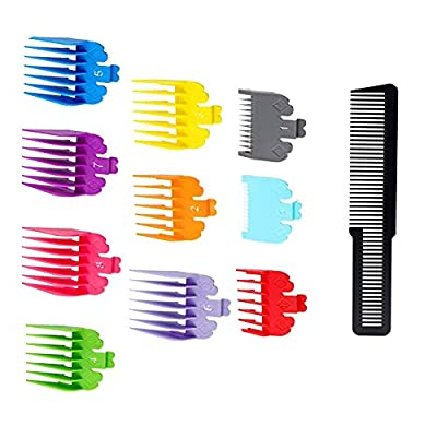 10 Pieces Hair Clipper Limit Comb Guide Attachment Set Cutting Guide Comb with Comb for Electric Trimmer Shaver Hair Trimmer Comb