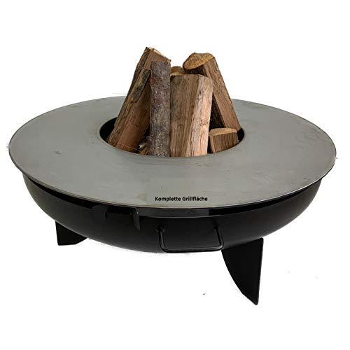 A. Weyck Tools Feuerplatte Grillplatte für Feuerschale komplette Grillfläche 85cm, 40cm Innen