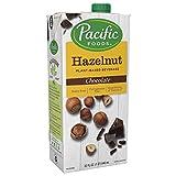 Pacific Foods Hazelnut Chocolate Plant-Based Beverage, 32oz, 6-pack