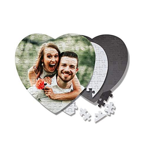 Wuloopesoy Puzzle Personalizzato a Forma di Cuore Puzzle con Foto Personalizzata Immagine Stampata Decorazione da Parete Puzzle Idee Regalo per Gli Innamorati