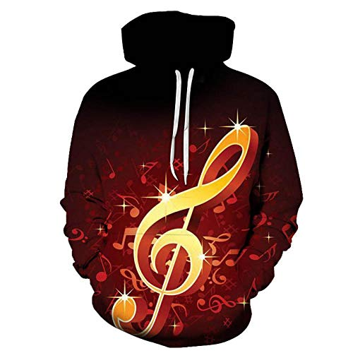 yyqx closed truck Gold Music Rest Hooded Sweatshirt Unisex Realistic 3D Fashion Pullover Hoodie Hooded Sweatshirt-Color_5XL
