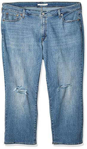 Levi's Damen Jeans Boyfriend, Übergröße - Blau - 50 Mehr