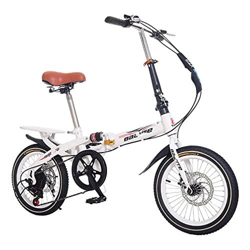 DHMKL 14/16/20 Pulgadas Bici Infantiles Bicicleta MontañA NiñOs Cuadro Manillar Plegables Bicicletas...