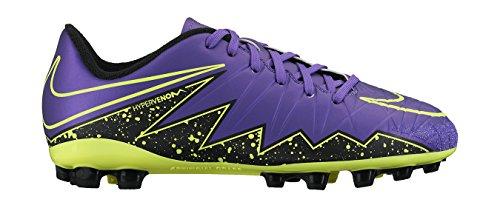 Nike JR Hypervenom Phelon II AG, Scarpe da Calcio Bambino, Viola, Nero, Verde (Hyper Grape Hypr Grape Blk VLT), 35 EU