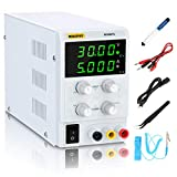 DC Power Supply Variable (30V 5A), Adjustable Switching Regulated Power Supply with 4 Read Out, Course & Fine Adjustments, Alligator Leads Desoldering Pumps Tweezers Electrostatic Bracelet