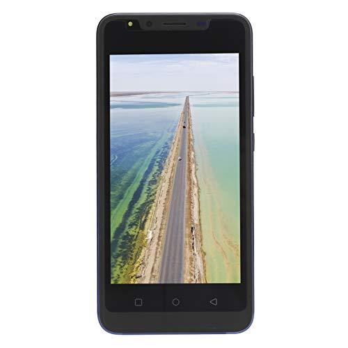 Jeankak Portátil Pequeño Smartphones Desbloqueados, 5,0 En Pantalla Teléfono con Cámara HD y Potente Procesador, Doble Tarjeta De Doble Modo De Espera Teléfono Móvil Inteligente (512Mb + 4Gb)(Azul)