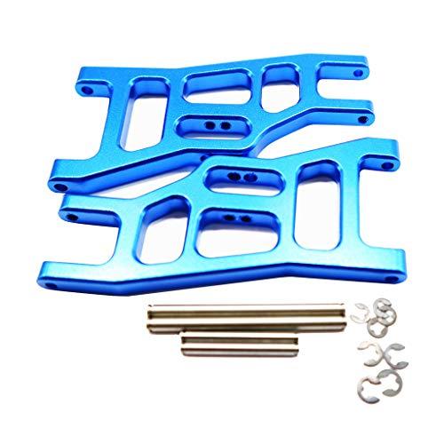 Bonarty 2er Pack Aluminium Vorne Unten Federung A Arme Für Traxxas 1/10 Stampede Slash Rustler 2WD RC Auto Upgrade Teile Hop Ups - Tiefes Blau, 82 x 39 x 2,6 mm