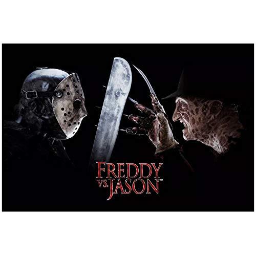 wzgsffs Freddy Vs Jason Horror Movie Poster and Prints Wall Art Print En Lienzo para Sala De Estar Home Bedroom Cafe-24X32 Pulgadas X 1 Sin Marco