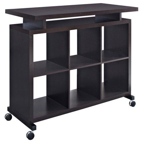 Hot Sale Altra Furniture Standing Multipurpose Desk with Shelves, Espresso