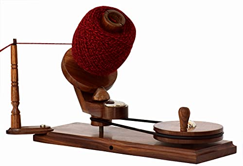 Wooden Winder (Rosewood) Yarn Winder - Large Wooden Yarn Winder Premium Crafted Knitting Crochet Ball Winder Knitter's Gifts Center Pull Ball Winder, Wool Winder String Holder for Crocheting