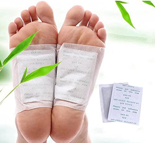 AOJIE 20 Stück Nuubu Fußpflaster Detox, Bambusessig Fußentgiftungspflaster, Für die Fußpflege Entfernen von Verunreinigungen Stress abbauen Verbessern Sie den Schlaf