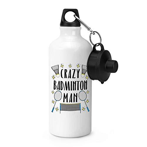 Gift Base Crazy Badminton Homme Étoiles Gourde de Sport