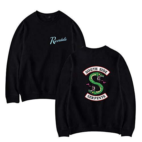 Riverdale South Side Serpents Sudadera Sin Capucha para Hombre Mujer Moda Camisa Swag Pullover Hip Hop Danza Tee Shirt Camisetas Manga Larga Otoño Invierno Primavera Baggy Jumper Top Casual Streetwear