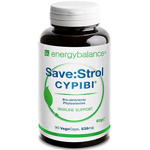 EnergyBalance Save:Strol CYPIBI Dr. Jens Wurster - Kapseln mit Polyphenolextrakt und Anthocyane aus Heidelbeerextrakt - Pflanzlich, Natürlich - Qualität aus der Schweiz - 90 VegeCaps à 536 mg