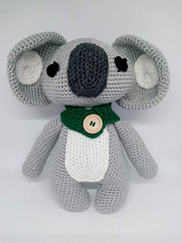 Peluche koala hecho a mano a ganchillo (amigurumi