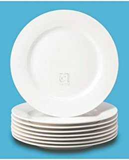 Basic White 8 PC Dinner Plates by Thompson Pottery