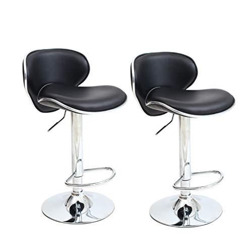 CYLQ 2-delige set barkrukken tegen de hoogte van de stoelen draaibaar verstelbaar met moderne rugleuning kunstleer barkruk voor keuken Sedie van Pranzo 5 kleuren 60-80 cm