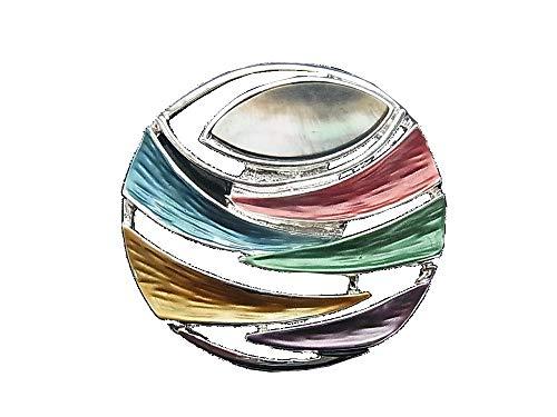 Brosche Magnetbrosche Schal Clip Bekleidung Poncho Taschen Stifel Textilschmuck Perlmutt Multicolor