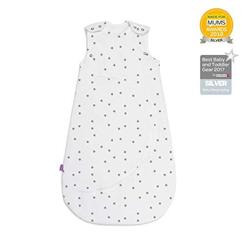 Snuz slaapzak, kleine ster, 0-6 maanden, 2,5 draad, wit/grijs, 460 g