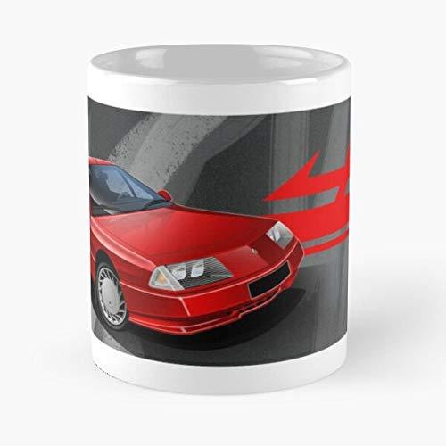 5TheWay Mug Renault Alpine V Illustrated GTA Best 11 oz Kaffeebecher - Nespresso Tassen Kaffee Motive