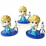 3 Unids / Set Princesa Congelada Muñeca De Bolsillo Elsa Olaf Figuras De Acción PVC Adorno De Pastel...