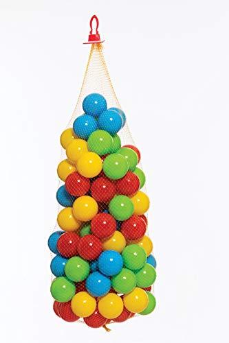 Dohany 458 Bolas de Colores para Piscina de Pelotas, 6,5 cm, Bolas de plástico para bebé, 100 Unidades en Red, para niños a Partir de 1,5 años