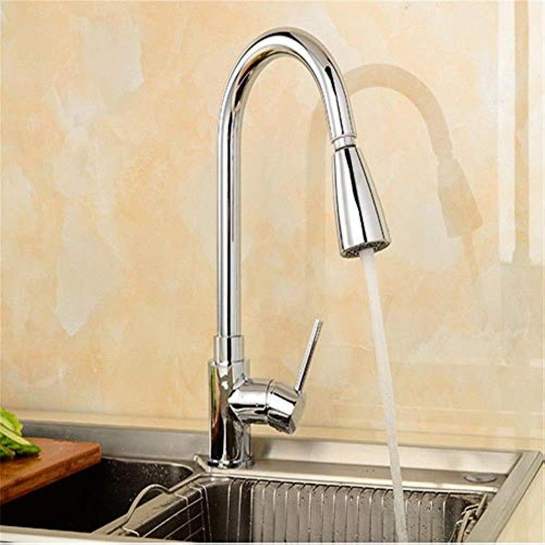 Wasserhahn Küche Waschbecken Badezimmer Pull Down Kitchen Sink Wasserhahn Messing Vollverkupferung Küchenarmatur, Single Hole Pull Küchenarmatur