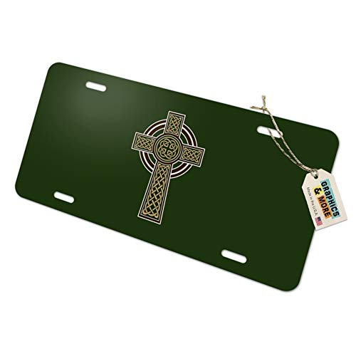 Celtic Christian Cross Irish Ireland Novelty Metal Vanity Tag License Plate