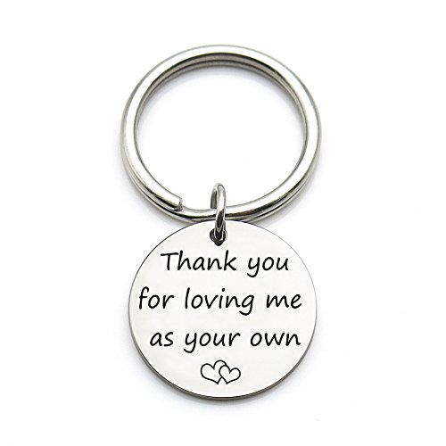 XGAKWD Step Mom Mother Gift, Thank You for Loving Me as Your Own, Mom in Law Gifts Idea for Mothers Day from Husband Daughter Son Kids