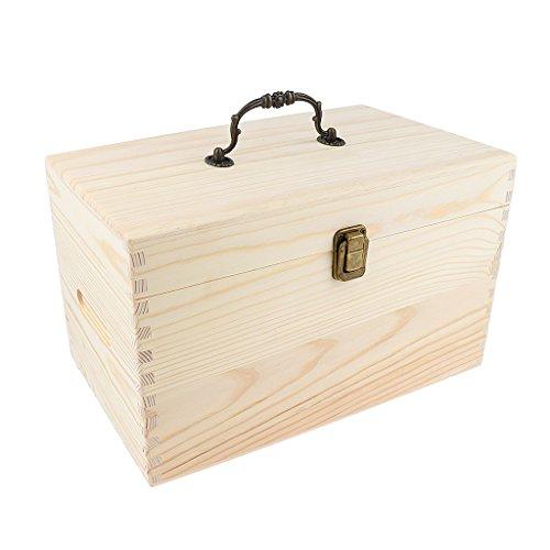 MagiDeal Aufbewahrungsbox für Ätherische Öle Aromen Holzbox Holzkoffer für Aufbewahrung (56 Fächer)