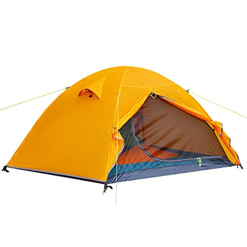 WYJBD 2-Person Ultra-Light Easy Set Up Dome Tent, Aluminum Alloy Pole, Breathable Comfortable Durable Safety Waterproof, For Garden Outing Mountaineering
