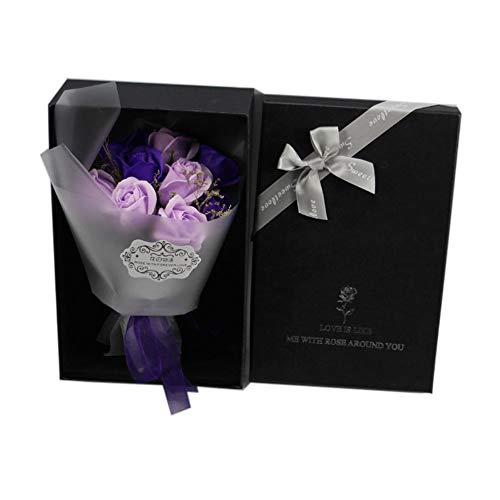 Chyuanhua Eeuwige Bloem 9 Zeep Boeket Van Bloemen Ter Herdenking van De Verjaardag Van De Moeder De Beste Verjaardagscadeau Handgemaakte Eeuwige Bloem Rose