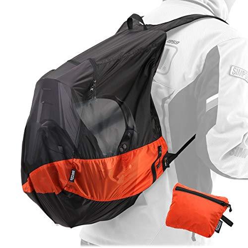 ドッペルギャンガー(DOPPELGANGER) ULヘルメットインエコリュック【バイク・自転車乗りのための超軽量防水エコバッグ】 容量25L シルナイロン製超軽量 畳んでシート下に収納可 DBT597-BK